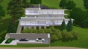 hillside home plans modern hillside house plans nestled on the california for sloping