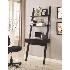 Wall Secretary Desk Coaster Wall Leaning Writing Ladder Desk Coaster Fine Furniture