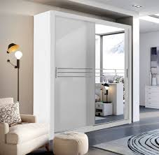modern bedroom wardrobe sliding door havana white 203cm sold by