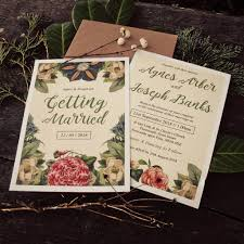 wedding invitations newcastle botanical floral themed wedding invitations by magik moments