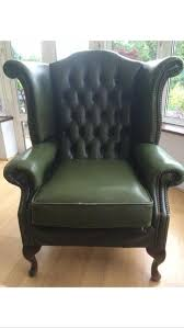 Queen Anne Wingback Chair Leather Chesterfield Armchair Queen Anne High Back Wing Chair Antique