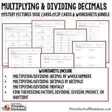 dividing and multiplying decimals worksheet worksheets