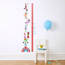 personalised circus height chart wall stickers kidscapes circus height chart wall stickers