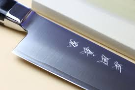 yoshihiro high speed steel gyuto chefs knife black pakkawood handle