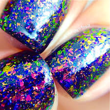 flakie fun house topcoat larger flakesmulti color shifting