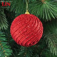 wholesale ceiling 8cm christmas red thread decorative foam