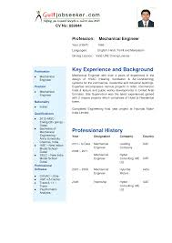Model Resume Format Download Chief Mechanical Engineer Sample Resume
