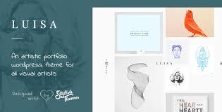 luisa minimalist portfolio u0026 blogging wp theme by stylishthemes