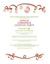 christmas cocktail party invitations christmas party victoria conservative association
