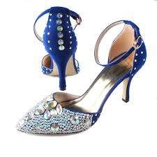 aliexpress com buy royal blue d u0027orsay pointed toe crystal woman