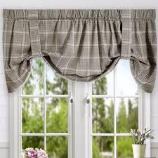 Tie Up Valance Curtains Morrison Lined Tie Up Valance Ellis Curtain Curtainshop