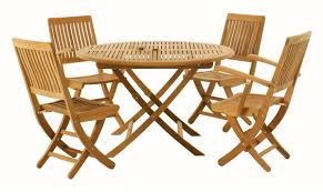 Teak Wood Patio Furniture Set - folding outdoor table and chairs u2013 folding wooden garden table and