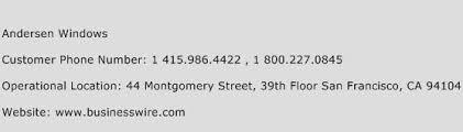 Windows Help Desk Phone Number by Andersen Windows Customer Service Phone Number Contact Number