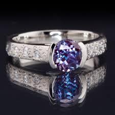 star rings diamonds images Alexandrite half bezel diamond star dust engagement ring jpg