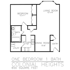 1 Bedroom Condo Floor Plans by Residential Living Floor Plans