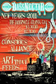 bassnectar nye poster bassnectar 12 31 10 new year s in atlanta at the tabernacle