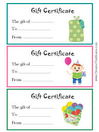 free gift certificate template sample designs