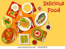 popular cuisine cuisine popular dishes icon stock photo photo vector