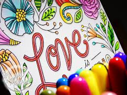 copic colored home decor coloring plaque nina marie design