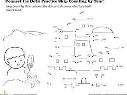 connect the dots practice skip counting by tens worksheet