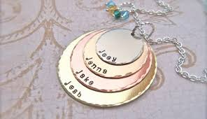 s day charms excellent idea personalized mothers necklace with kids charm