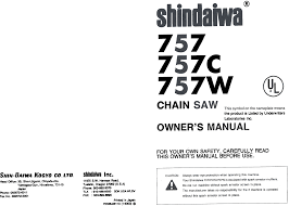 shindaiwa chainsaws 757 pdf owner u0027s manual free download u0026 preview