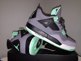green glow 4 air 4 retro green glow gs grade school