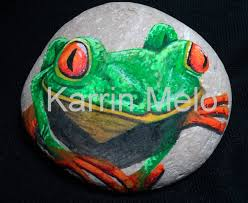 Painted Rocks For Garden by Rock Painting Painted Stone Frog Garden Stone Hand Painted