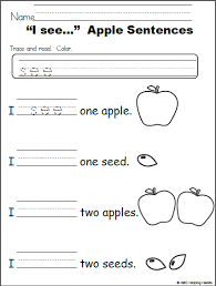 i see u2013 apple sentences editable free worksheet free sight word