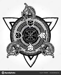 celtic cross and t shirt design helm of awe stock