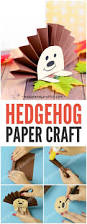 paper rosette hedgehog easy peasy and fun