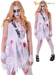 Halloween Prom Queen Costume Bloody Prom Queen Costume Halloween Zombie Fancy Dress