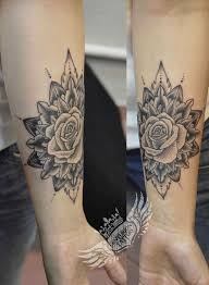 by pretty tattoos on wrist black and grey s