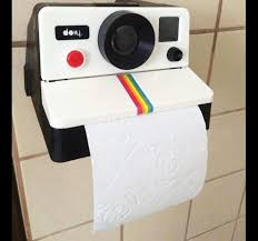 toilet paper dispenser polaroid camera toilet paper dispenser