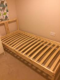 Ikea Single Bed Frame Pine Single Bed Frame With Slatted Bed Base Ikea In Rudheath