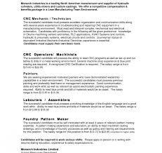 resume sle templates 2017 2018 cnc machinist resume template fred resumes chic inspiration 1 rega