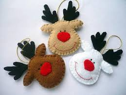Christmas Decorations Reindeer by Diy Felt Christmas Ornaments 22 Felt Christmas Crafts Homemade
