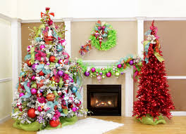 decoration christmas trees decorated in red and gold white tree