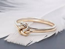a knot ring knot gold engagement ring thick