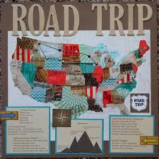 Scrapbook Albums 12x12 Road Trip Scrapbook Album 12x12 Layout South Dakota Montana