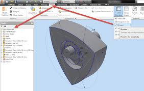 solved how to enable model browser in autocad inventor