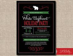 white elephant invitation wording party invitations white