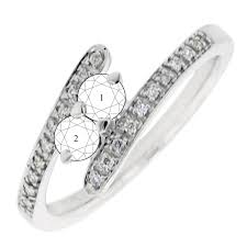 mothers rings white gold 2 bypass mothers ring in 14kt white gold with diamonds 1