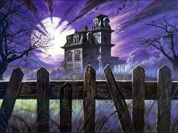 really scary halloween background halloween haunted house wallpaper wallpapersafari