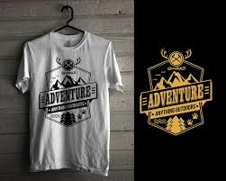 themed t shirts entry 18 by iddur for anything outdoors adventure themed t shirts
