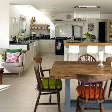 Kitchen Diner Design Ideas Walnut Floor Open Plan Kitchen Diner Living Room Lit Step Raised