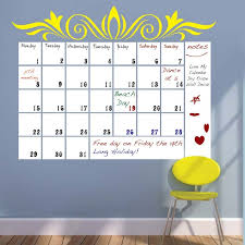 Dry Erase Board Decorating Ideas Wooden Table Dry Erase Calendar Wall Decal Modern Weekly Planner