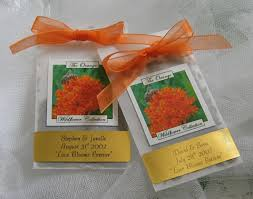 seed favors special occasion seed favor packets orange wildflowers