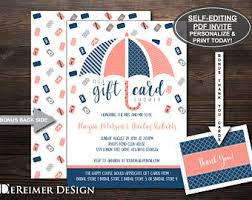 Gift Card Bridal Shower Dereimer Design By Dereimerdesign On