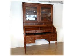 bureau acajou superbe bureau cylindre louis xvi vitrine acajou massif serrure